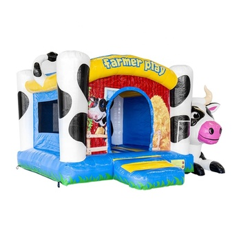 Most Popular Inflatable Bouncer Castle Inflatable Animal Castle Bouncer Box Cow For Kids Outdoor Playground
