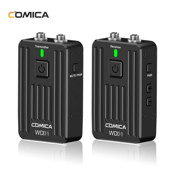 COMICA 2.4G Wireless Microphone Digital Wireless System for Vlogging, Street Interviews, YouTube Video