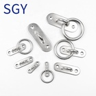 SGY Marine sailboat Hardware Stainless Steel Ring Oblong Lashing Square Hook Pad Eye Plate