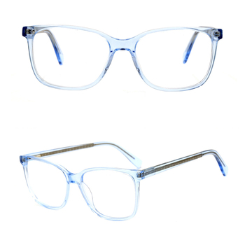 G3001 women plastic acetate clear lens frame glasses
