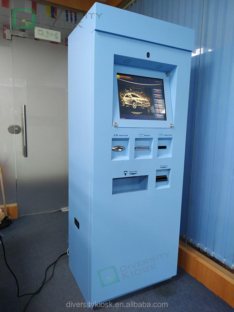 Kiosque de paiement en espèces pour machine de lavage de voiture automatique à écran tactile interactif de comptoir application extérieure