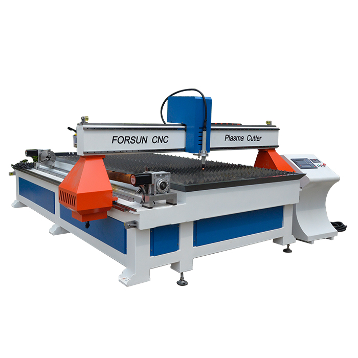 Cheap Cnc Plasma Cutting Machine with rotary for iron Carbon stainless Steel pipeTube cutting With Discount Price