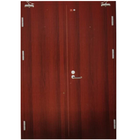 low price steel red doors with the double swing open style