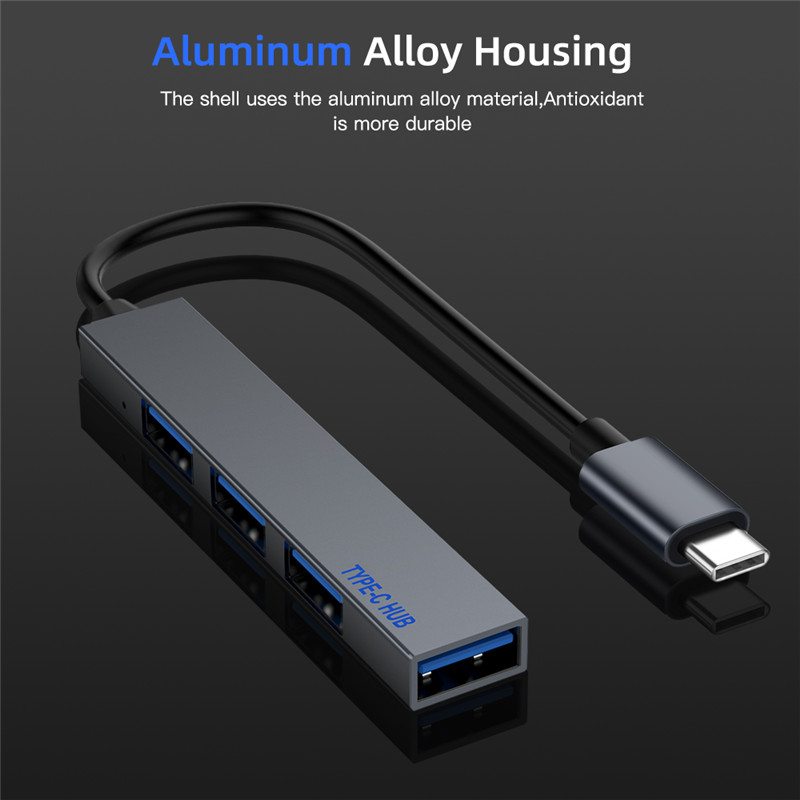 Type C HUB 4 Port USB-C to USB 2.0 Splitter Converter OTG Adapter Cable for Macbook Pro iMac PC Laptop Notebook Accessories