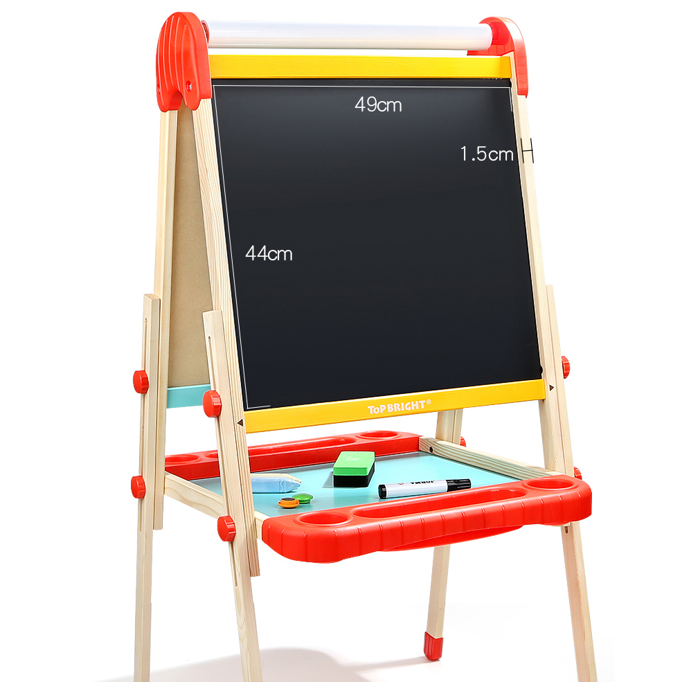 Nature Wood Standing Art Easels, Early Educational Baby Wooden Kids All-in-1 Art Easel kids