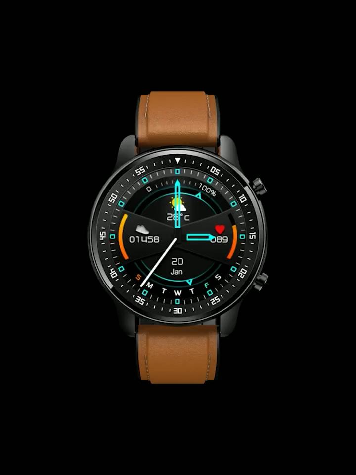 COLMI MT1 Neuheiten Runde Smartwatch Ip67 Spielen Musik Bluetooth Anruf Sport Fitness Tracker Smart Uhr