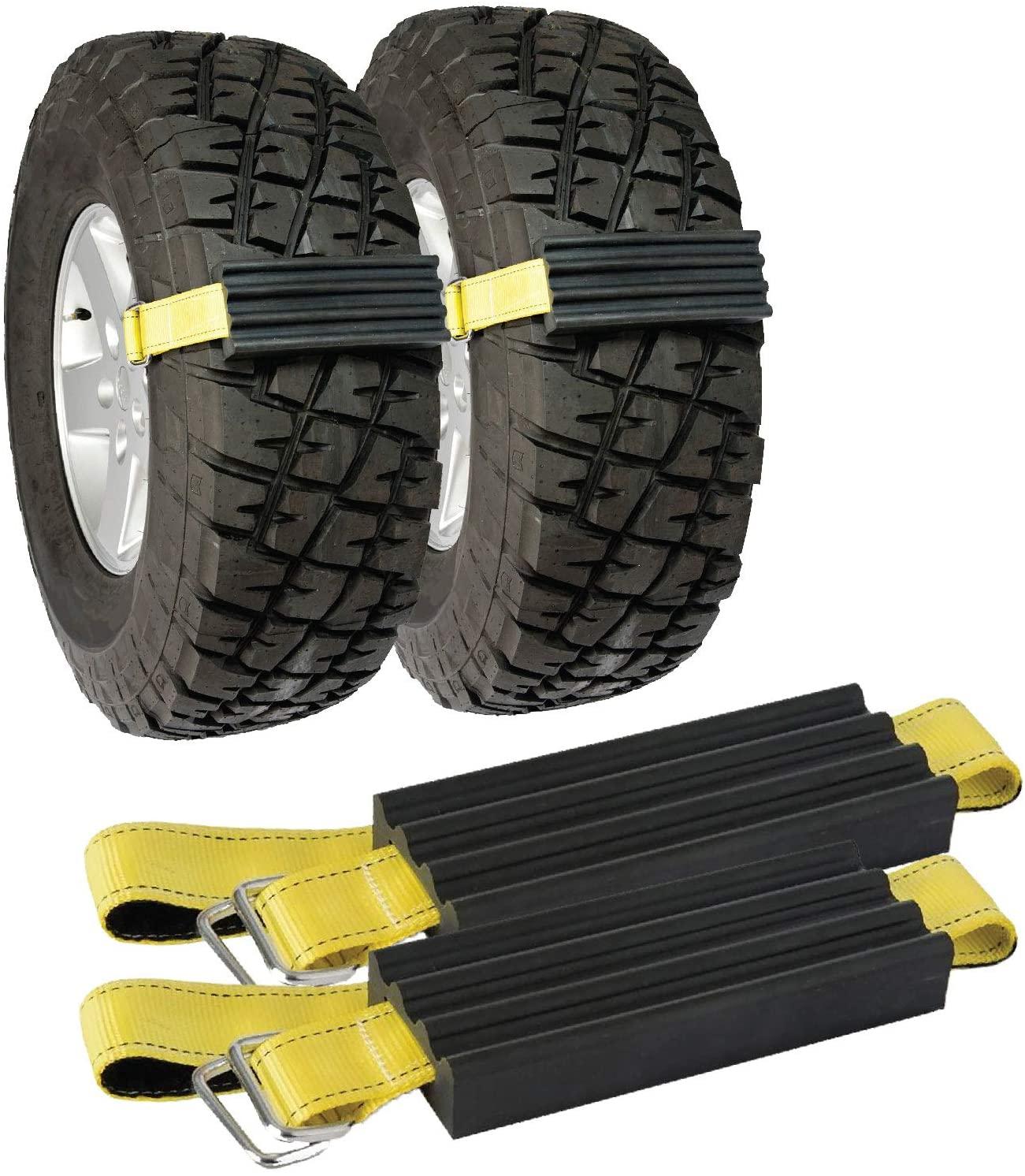XINQI 6pcs Adjustable Winter Universal Fix Car Tire Emergency Anti Slip Snow Tire Chains for Most Cars/SUV/Trucks