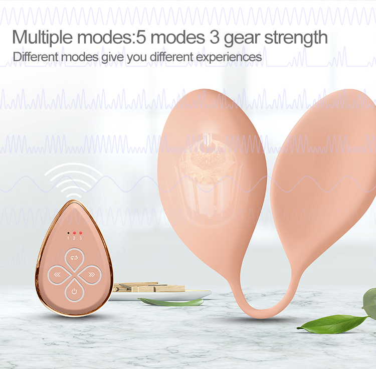 Three massaging models 8-level intensities soft silicon wireless breasts enhancement massager