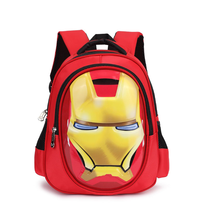 product-GF bags-mochilas 3D iron Man Student bag Boy Girl Schoolbag Teenagers High-capacity Cartoon