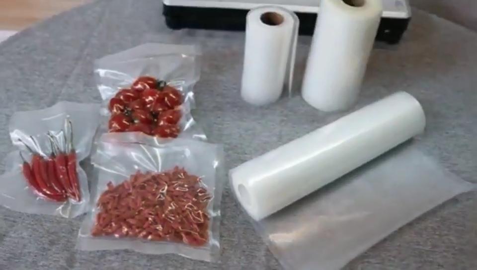 Embossed food grade packaging vacuum sealer bags rolls
