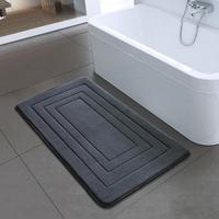 High Quality microfiber embossed Bath Mat Foam Rug for Bathroom Kitchen Bedroom inside foam back PVC 40x60cm