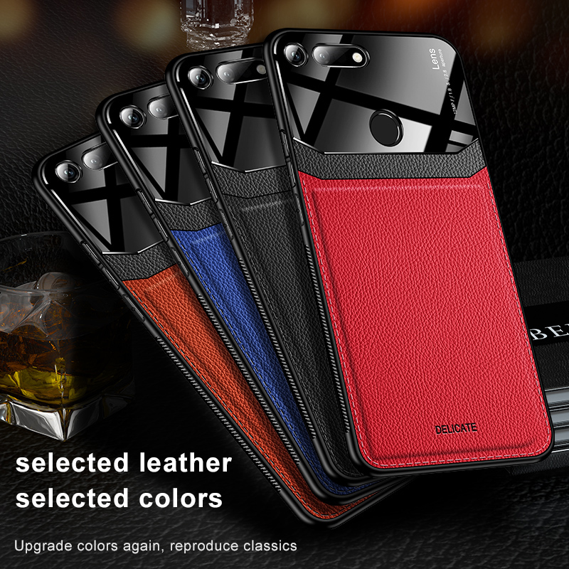 Honor <strong>V20</strong> Case PC Leather Anti-knock <strong>Phone</strong> Protective Back Cover Case for Huawei Honor V10