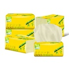 Facial Tissue Promotional Selected OEM/ODM Bamboo Virgin 4ply 300 Sheets Custom Facial Tissue Paper