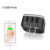 led light logo world travel adapter with 3 usb charger corporate gift
