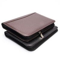 Customize Business PU Leather Portfolio With Zipper