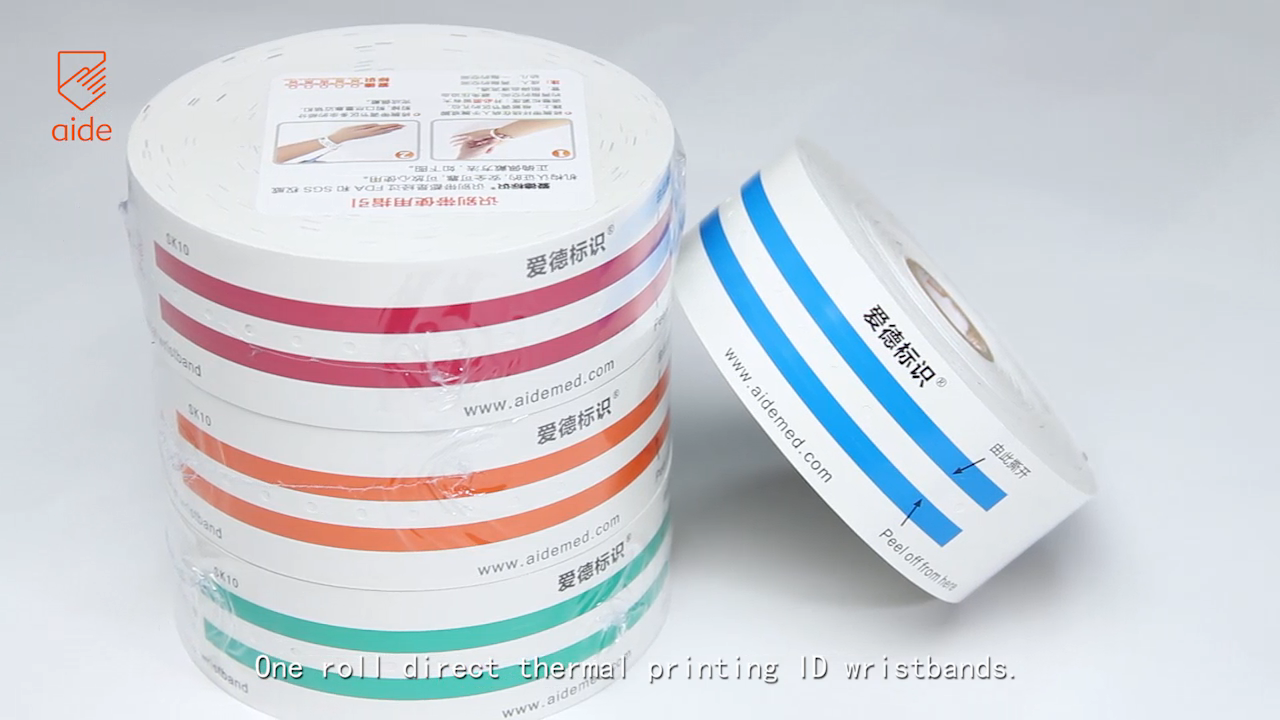 Newborn Baby ID Hospital Medical Disposable Barcode Identification Wrist Bands Thermal Patient Use Bracelets