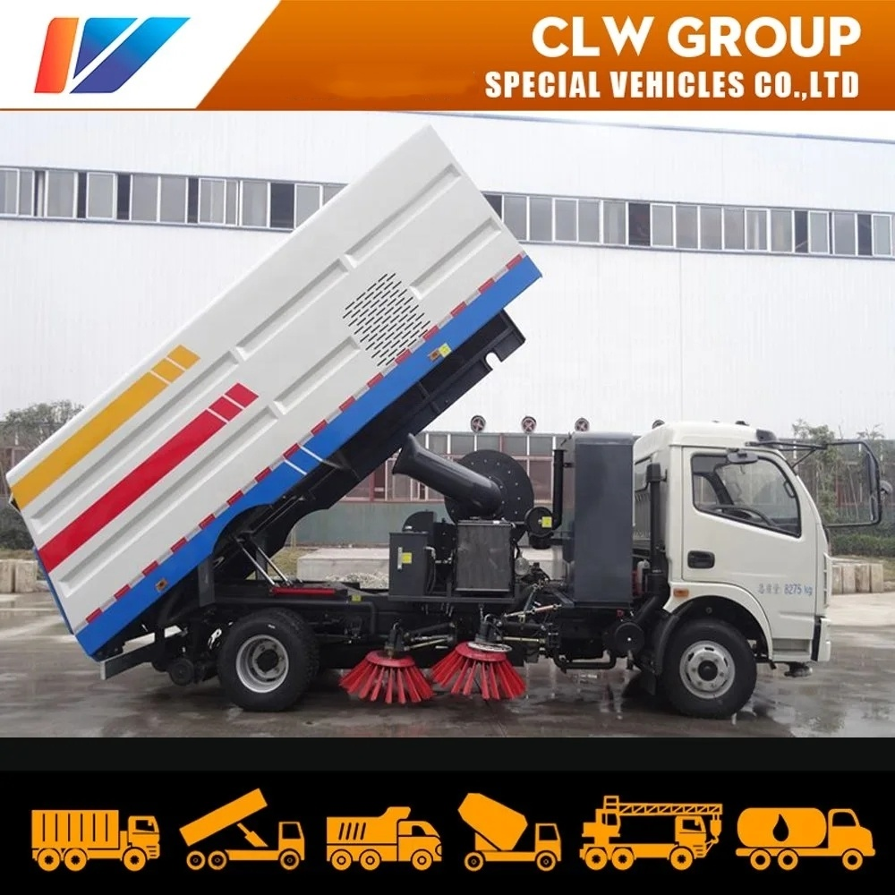 China Dongfeng 8cbm/8m3/8000liters City Garbage/Dust/Sewage Sweeping Machine Vehicle 5ton runway Cleaning Sweeper Truck