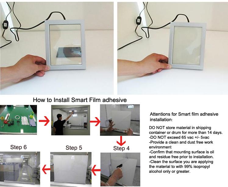 Chất lượng cao rõ ràng tempered có thể chuyển đổi sự riêng tư thông minh tint kính điện