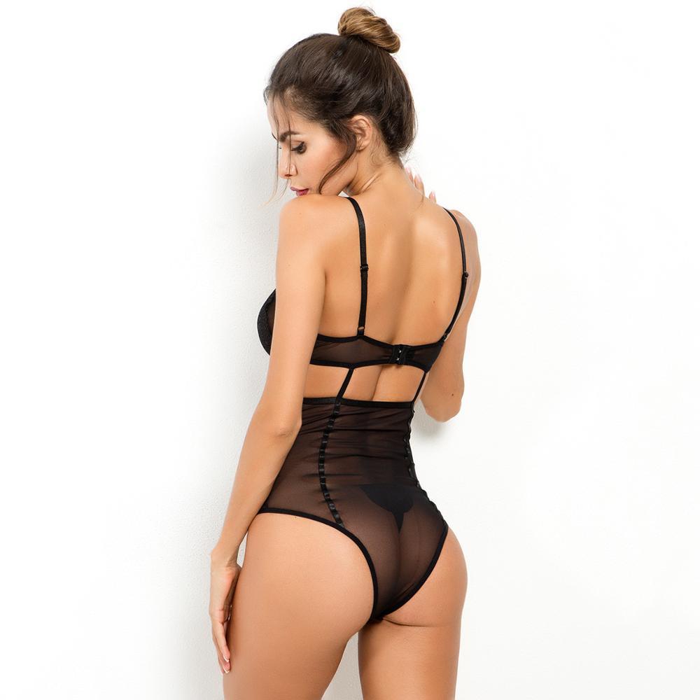 Neue Frauen Mesh Transparent Nähen Sexy Dessous Body