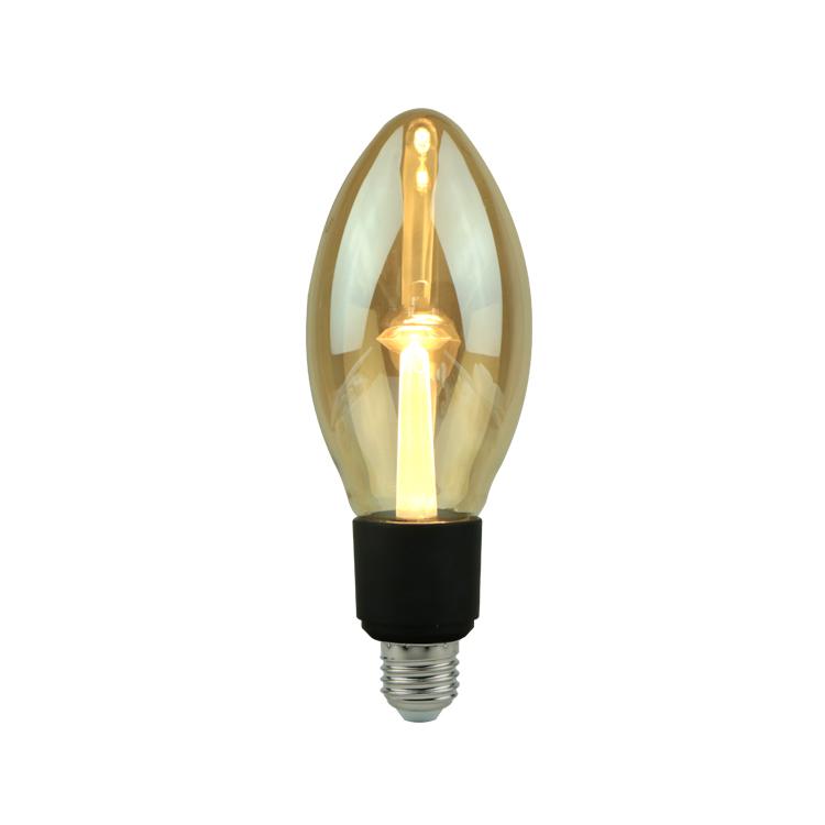 Ningbo großhandel sonder bernstein glas stimmung filament e26 led edison glühbirne vintage