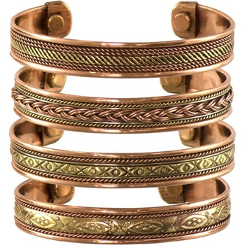 Copper Bracelets Magnetic India Pattern Women's Men's Spiritual Yoga Jewelry