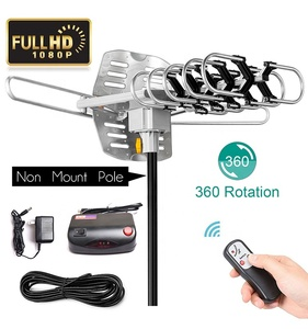 Outdoor 150 Mile Motorized 360 Degree Rotation OTA Amplified HD TV Antenna for 2 TVs W/33ft Coax Cable(FOB HOCHIMINH,VIETNAM)