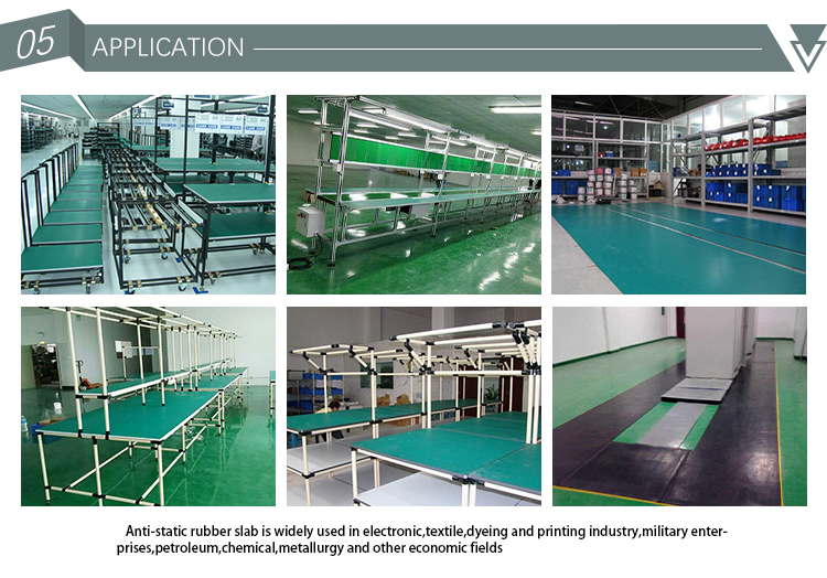Free sample 2mm 2 Layers with ROHS ESD Table rubber mat Antistatic for  factory cleanroom