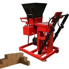 semi-automatic manual hydraulic clay sand compressed earth interlocking block making machine price for building