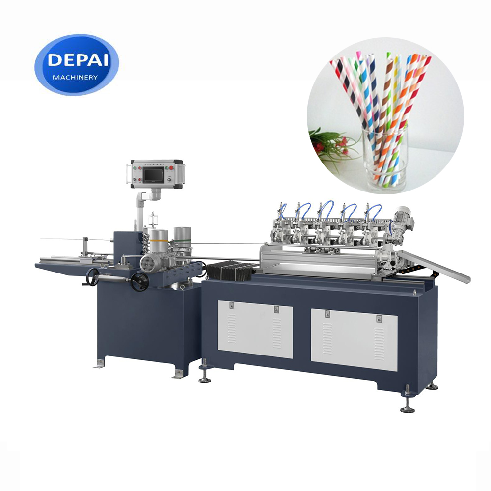 Colorful Paper Straw Spiral Winding Making Machine Line For Very Small Diameters