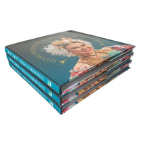 custom hardcover photo album art book printing with dust jacket