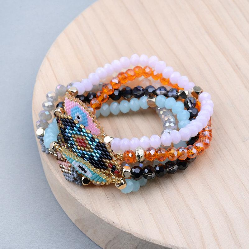 Fashion Bohemian Cristal woven string of beaded bracelet wholesale