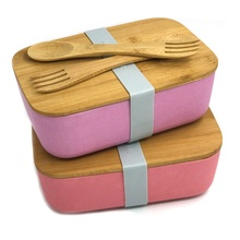 <span class=keywords><strong>Opbergdozen</strong></span> & Bins rvs houten sandwich bento lunchbox voedsel container