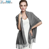 Fashionable ladies winter solid color wool acrylic scarf bulk whoslae women knit pashmina