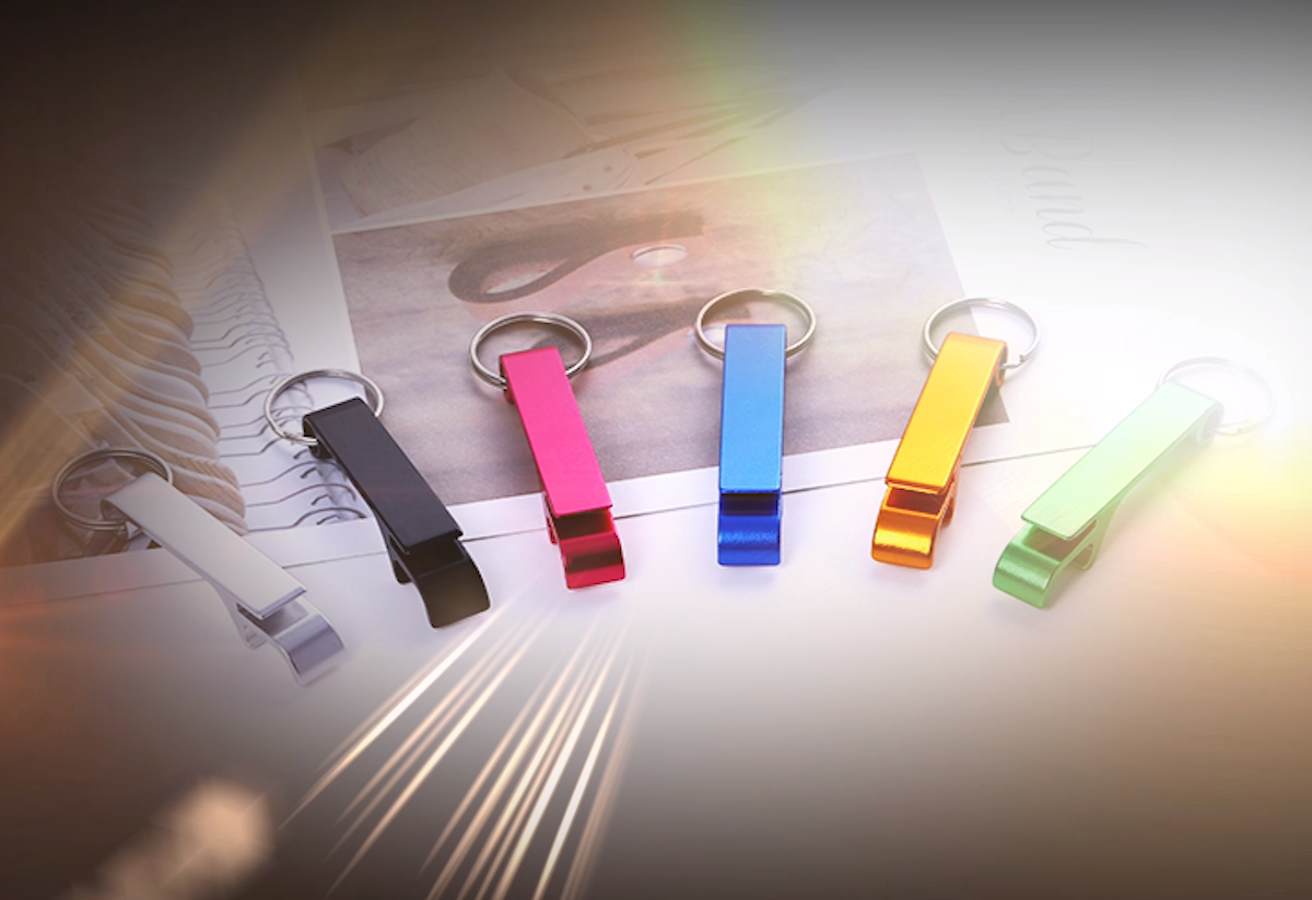 customized diy colorful metal keyring bottle opener, bottle opener with keychain