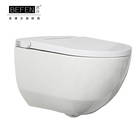 Popular sanitary ware white round intelligent wall-hung toilet with CE RoHS