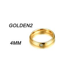 Новое Золотое кольцо из нержавеющей стали для мужчин и женщин, кольцо с кристаллами, ювелирные изделия, обручальные кольца для влюбленных, и...(Китай)