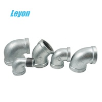 Dip hot Galvanized Gi Elbow Pipe Fittings Malleable Cast Iron Pipe Fittings Elbow 90 Degree Band Equal Elbow