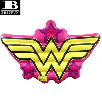 Top Kualitas Vinyl Tiup Meledakkan Komik Wonder Woman Logo Pool Float Plastik Tahan Lama Air Ruang Rakit Kasur Udara Buy Wonder Woman Logo Pool Float Komik Ruang Air Tiup Kolam Renang Mengapung Product