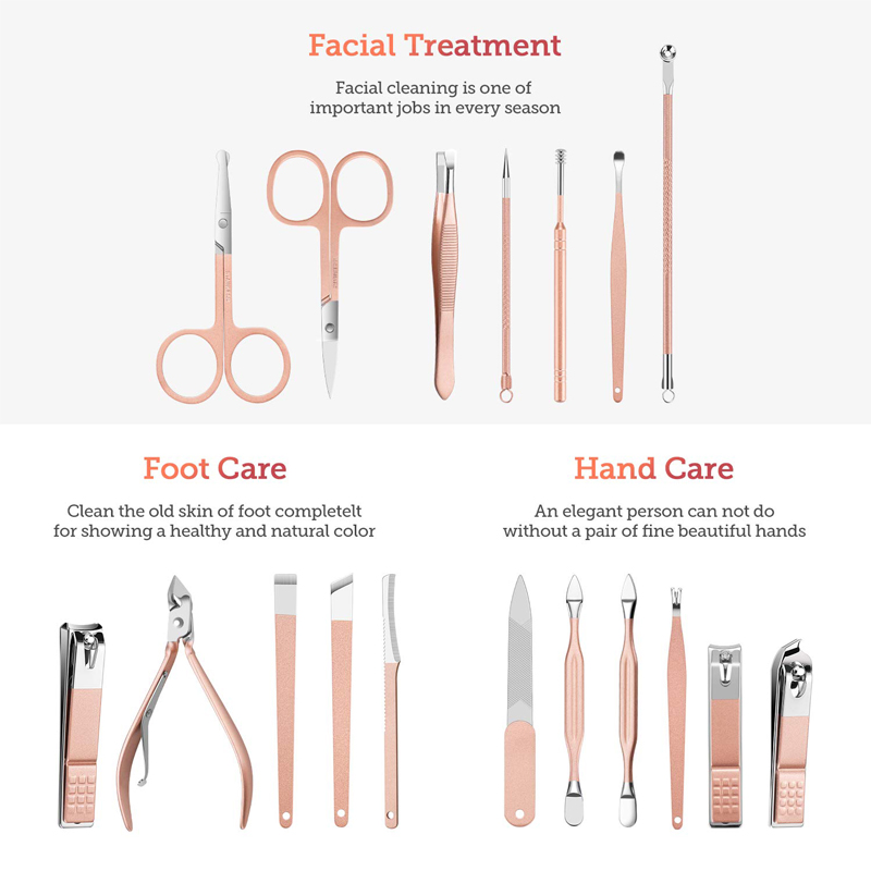 Schönheit Nagel Pflege Fellpflege Kit Nail Clipper Werkzeuge 16pcs Maniküre Sets Professionelle Roten Nagel Maniküre Pediküre Set in Reise fall