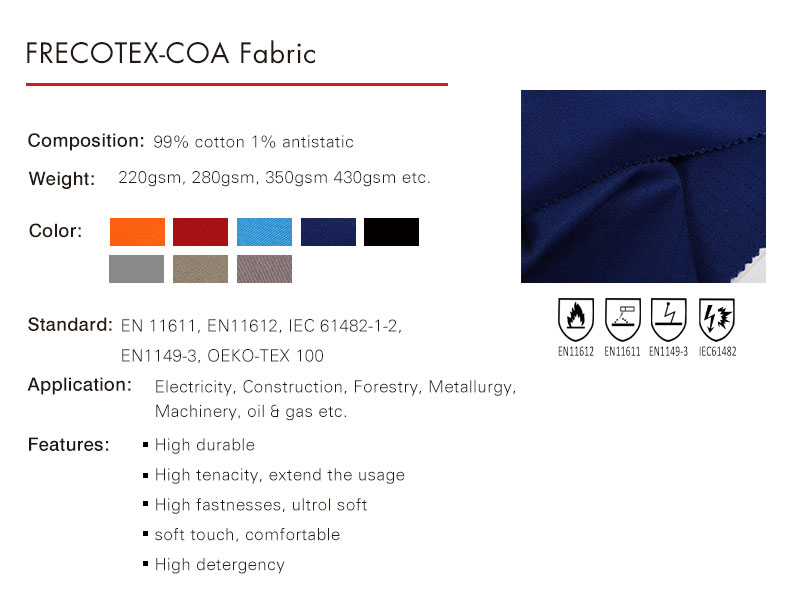 Hot sale Stock Wholesale FR Flame Retardant fabric for workwear