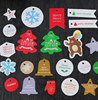 100pcs/bag Christmas Festival Thanks Around Snow Star Tree Tags Paper Gift Label DIY Crafts Hang Tag Baking Wrapping Heart Card