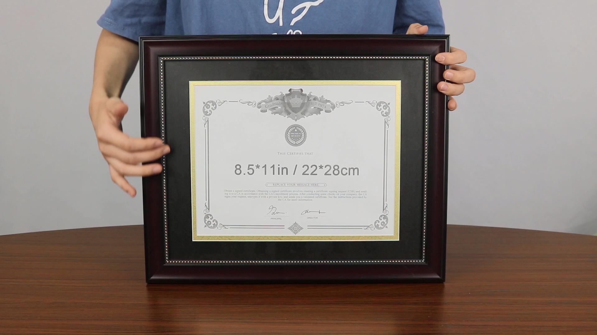 Wholesale Price 2020 Graduation Certificate Frame A4 Diploma Frames Holder