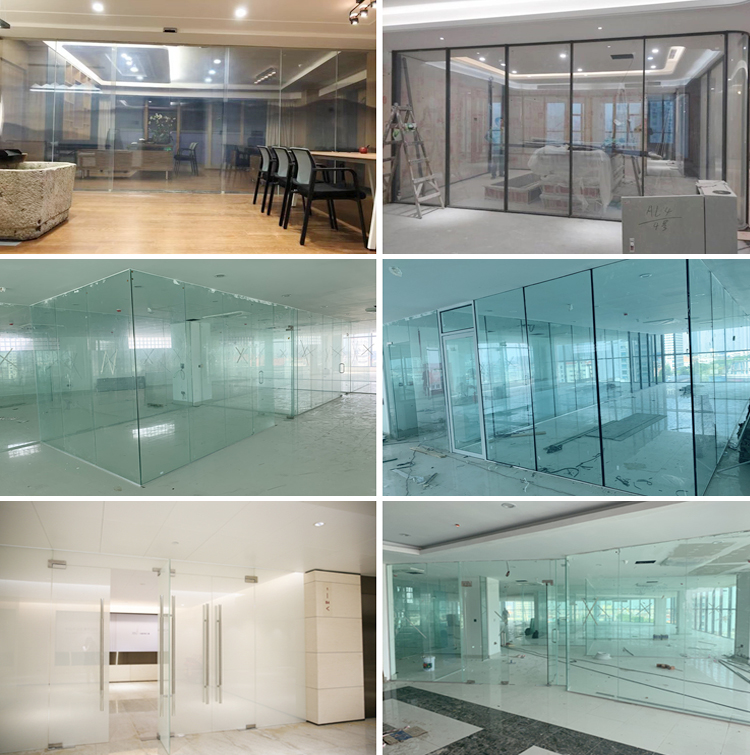 10mm 12mm colored  tempered partition door glass price china supplier