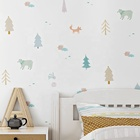 Cartoon animal design vinyl pvc wallpaper home decoration 3d kids