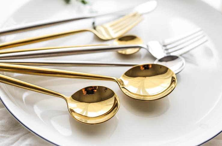 Portuguese Design High Quality Matte Golden Cutlery Set 18/10 Spoon Fork Knife Western Wedding Gifts Gold Flatware 2 buyers