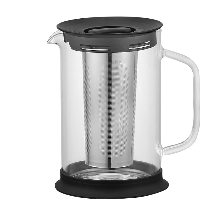 OEM/ODM Pyrex glass Adequate Inventory High Borosilicate Glass 304 Stainless Steel Handheld Cold Brew Coffee Maker