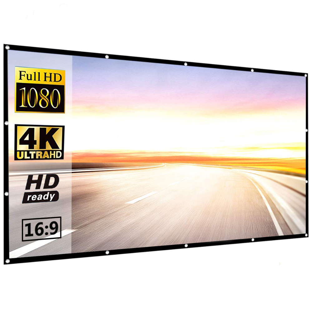 Foldable high quality 120 inches thick Projector <strong>Screen</strong> for Home theater or outdoor travel
