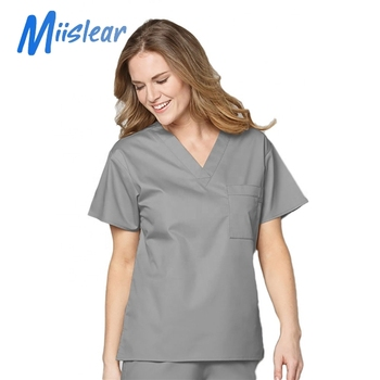 Fashion nurse uniform top design for scrub uniforms