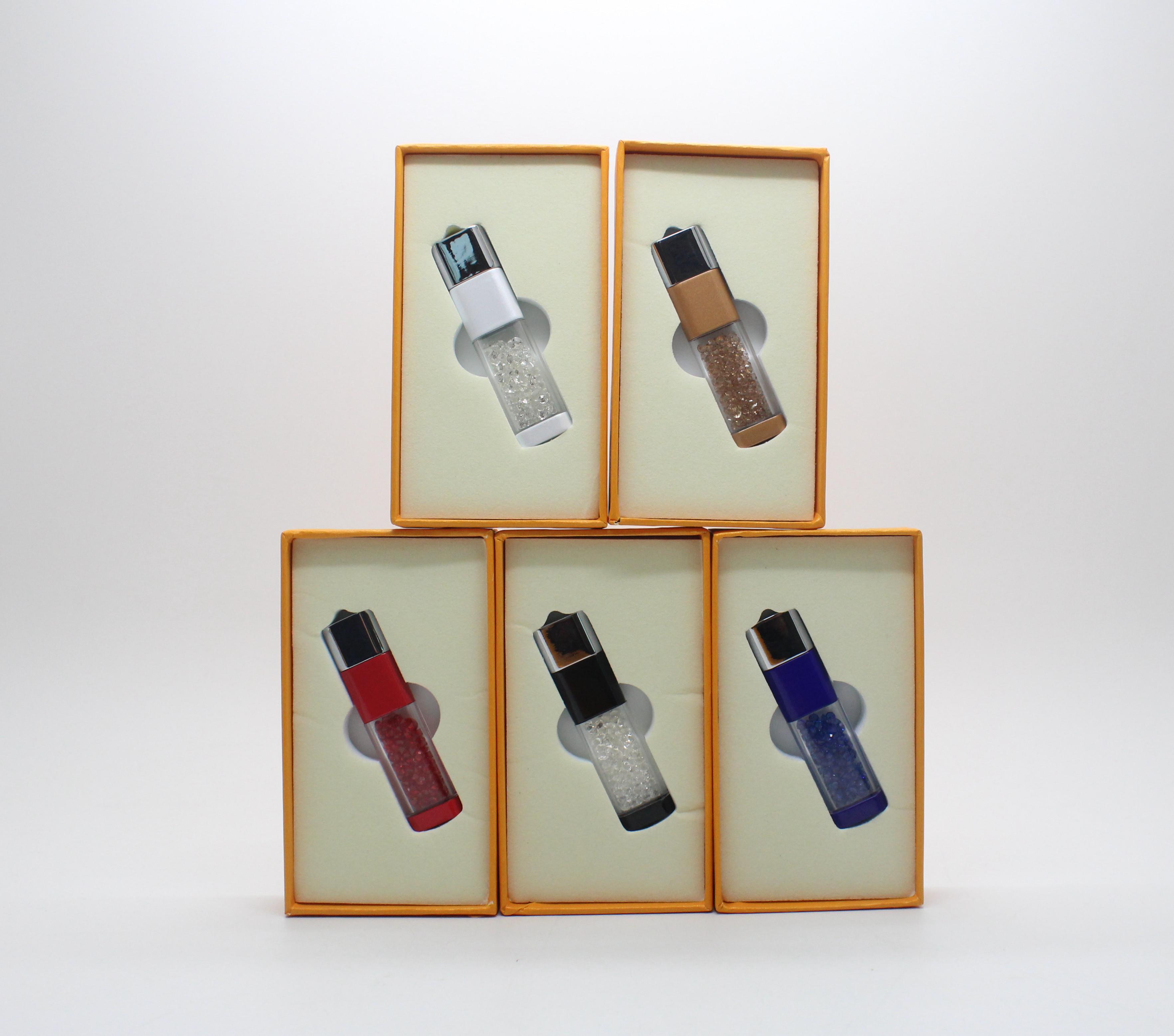 5 Colors USB Flash Disk Box Wedding Electronic Gift Set