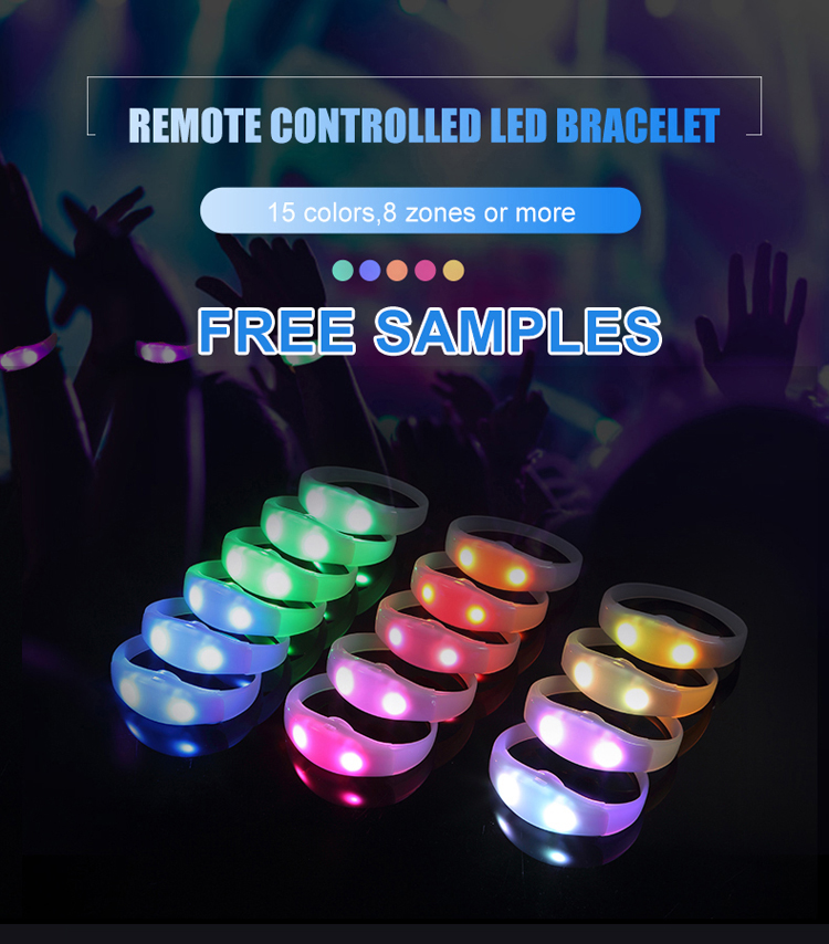 New Function Product Light Flashing Interactive Wristband Logo Programmable Xyloband Remote Controlled Led Bracelet
